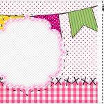 Convite Ingresso Festa Junina Rosa