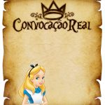 Convite Pergaminho Alice no País das Maravilha 3