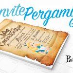 Convite Pergaminho Alice no País das Maravilhas