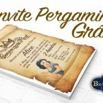Convite Pergaminho Realeza Branca de Neve