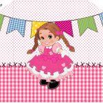 Convite com Envelope Festa Junina Rosa