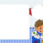 Convite com foto Festa Junina Azul