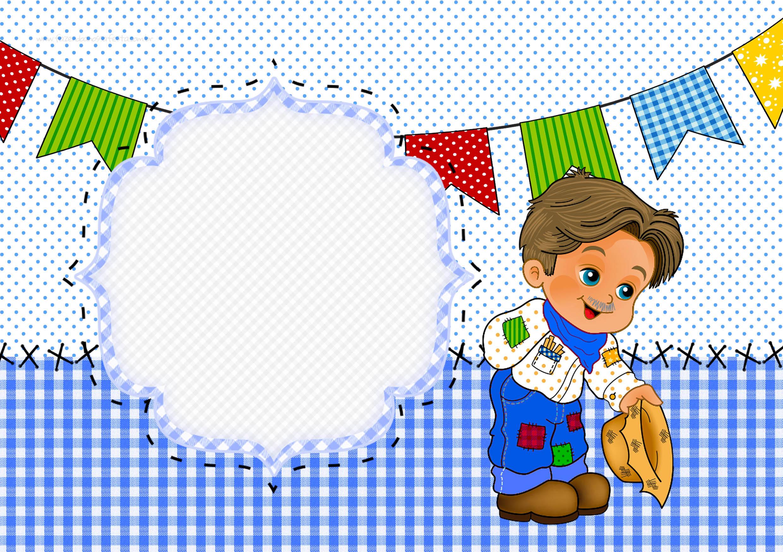 Armario Nancy Famosa ~ Convite ou Cartao Festa Junina Azul Fazendo a Nossa Festa