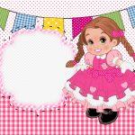 Convite para Festa Junina Rosa