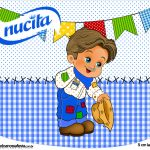 Creminho Nucita Festa Junina Azul