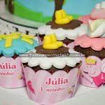 Cupcake Festa Peppa Pig Princesa da Julia