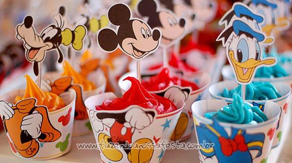 Cupcake Mickey e sua Turma Molde Grátis