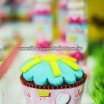 Cupcakes Festa Peppa Pig Princesa da Julia
