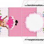 Envelope CD DVD Festa Junina Rosa