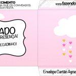 Envelope Cartao Agradecimento Chuva de Bencao Meninas
