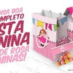 Kit Festa Junina Rosa Grátis para Imprimir