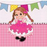 Lata de Leite Festa Junina Rosa