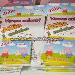 Livrinho Colorir Festa Peppa Pig da Julia