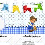 Maleta lembrancinha Festa Junina Azul