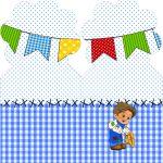 Marcador de Paginas Festa Junina Azul