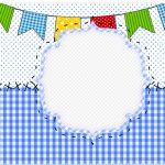 Marmita Festa Junina Azul