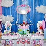 Mesa de doces Festa Peppa Pig Princesa da Julia