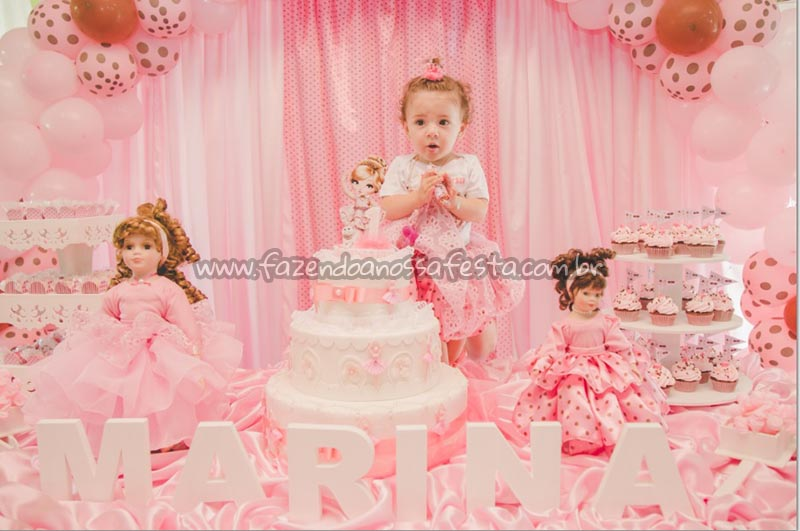 Mesa do bolo Festa Bailarina Jolie da Marina