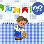 Mini M&M Kit Festa Junina Azul