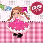 Mini M&M Festa Junina Rosa