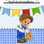 Mini Pastilha Docile Festa Junina Azul