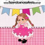 Mini Pastilha Docile Festa Junina Rosa