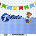 Mini Trakinas Festa Junina Azul