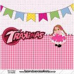 Mini Trakinas Festa Junina Rosa