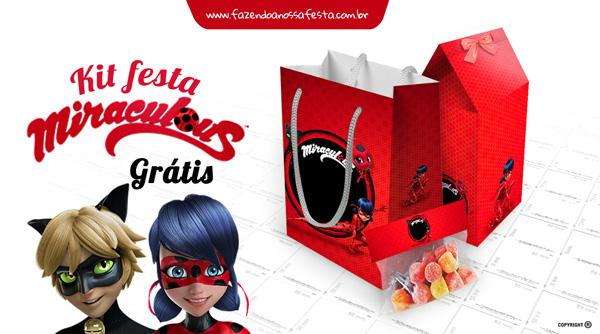 Kit Festa Miraculous Ladybug