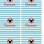 Molde Chocolate Personalizados Mickey e sua Turma - Mickey