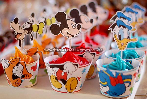 Molde Cupcake Mickey e sua Turma Grátis