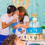Papai e Mamae Festa Realeza do Arthur