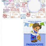 Passaporte Festa Junina Azul