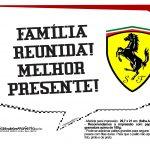 Plaquinhas divertidas Ferrari