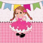 Quebra cabeca Festa Junina Rosa