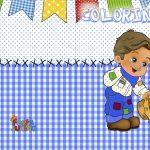 Revista Colorindo Festa Junina Azul