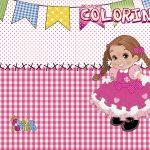 Revista Colorindo Kit Festa Junina Rosa