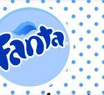 Rotulo Fanta Festa Junina Azul