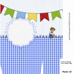 Sacolinha Surpresa Festa Junina Azul - Parte 1