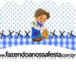 Saias Wrappers Kit Festa Junina Azul