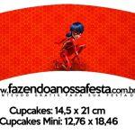Saias Wrappers para Cupcakes 2 Miraculous Ladybug