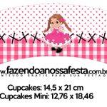 Saias Wrappers para Cupcakes Festa Junina Rosa