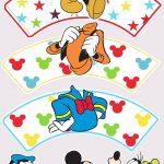 Saias Wrappers para Cupcakes Personalizados Mickey e sua Turma