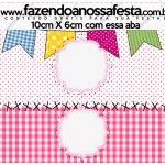 Saquinho de Balas Festa Junina Rosa