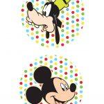 Toppers para Doces Mickey e Pateta