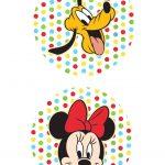 Toppers para Doces Minnie e Pluto