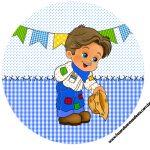 Tubetes e Latinhas Kit Festa Junina Azul