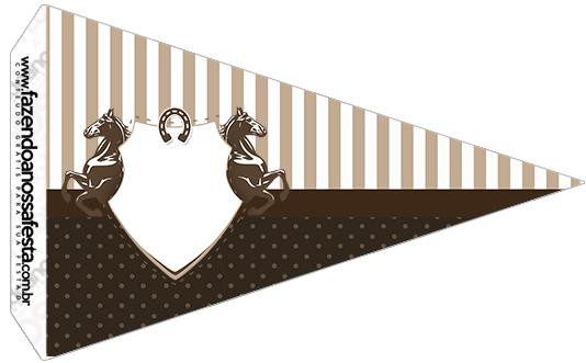 Bandeirinha Sanduiche 4 Cavalo