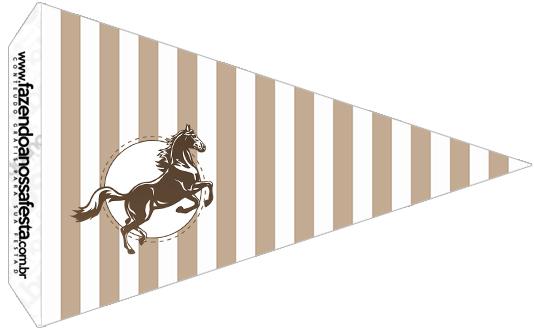 Bandeirinha Sanduiche 6 Kit Festa Cavalo