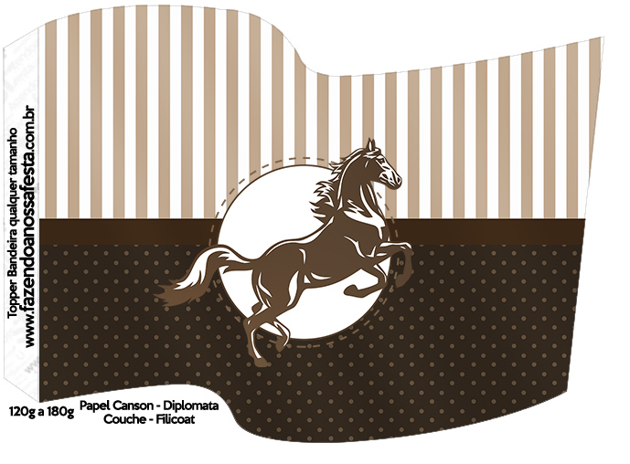 Bandeirinha Sanduiche Cavalo